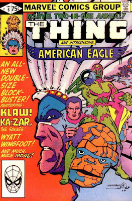 Marvel Two-in-One Annual #6, The Thing and American Eagle