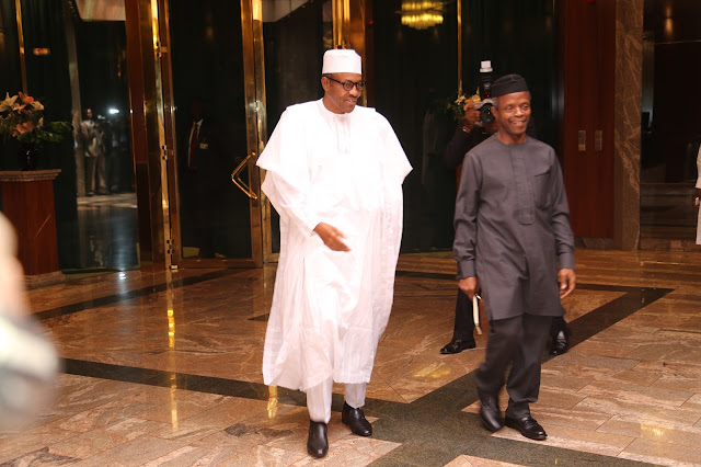 Image result for president Buhari and Osinbajo