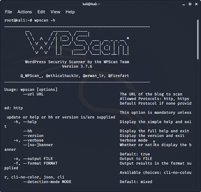 WPScan screenshot