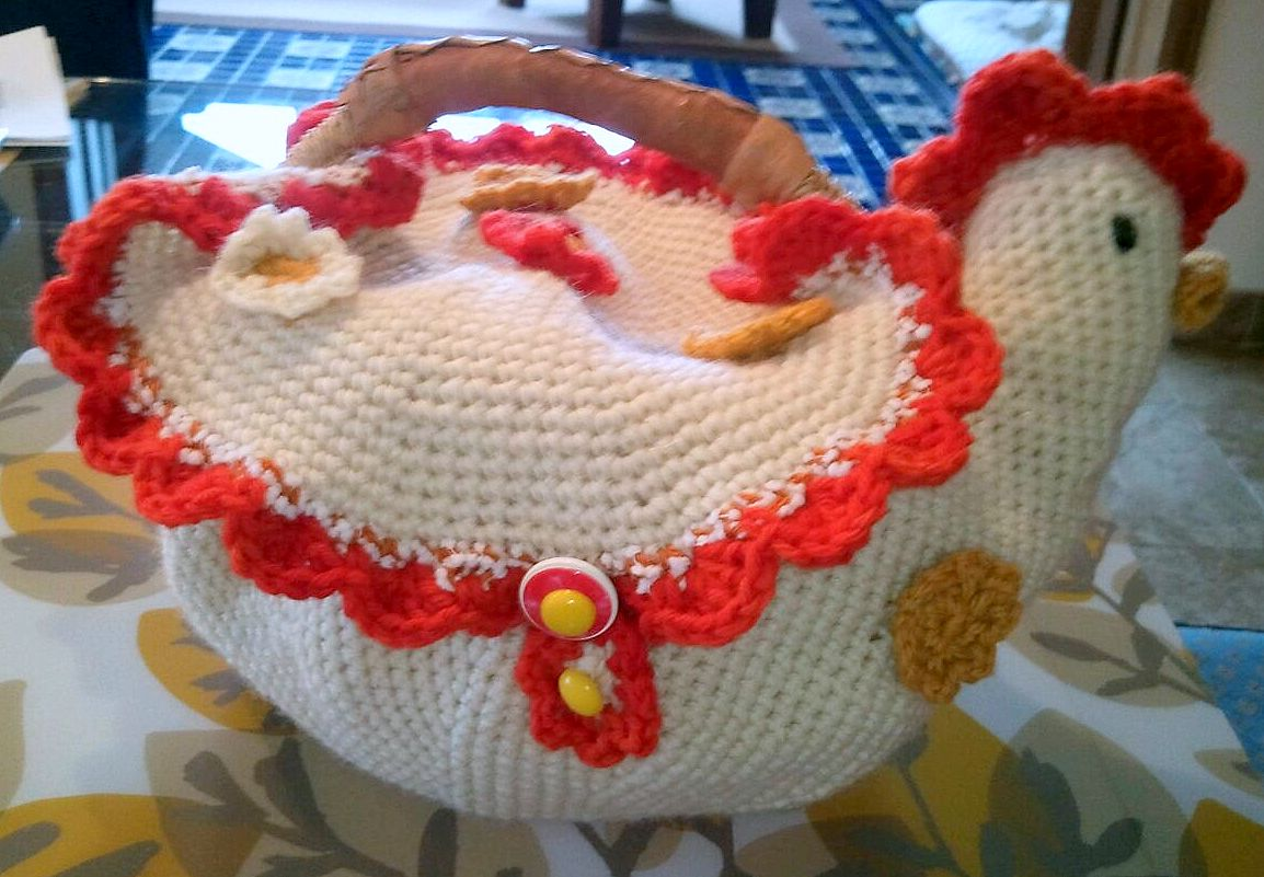 Life Is Art Art Is Life Crochet Chicken Basket