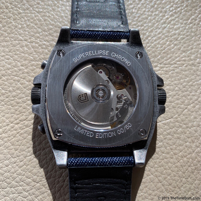 Jubileon Superellipse Chronograph case back