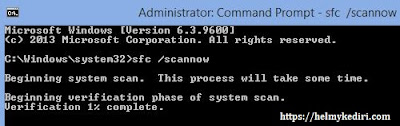 Perbaiki file windows yang corrupt