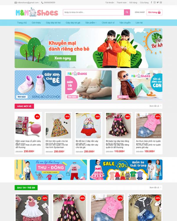 Mẫu Web Babyshop 2
