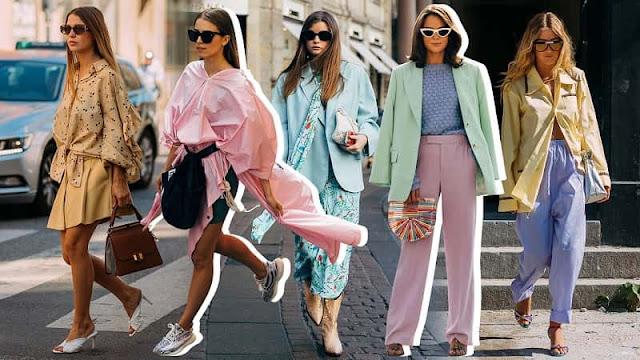 tông màu pastel trong thời trang nữ