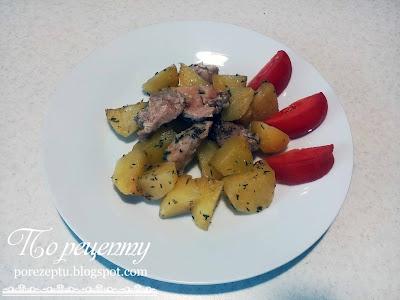 картофель с мясом в духовке рецепт