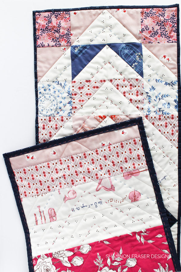 Sonata Modern Aztec Table Runner | Best of 2019 | Shannon Fraser Designs #quiltedtablerunner #handquilted #tablelinen #diy
