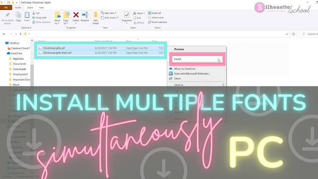 silhouette 101, silhouette america blog, install fonts, font management, silhouette studio