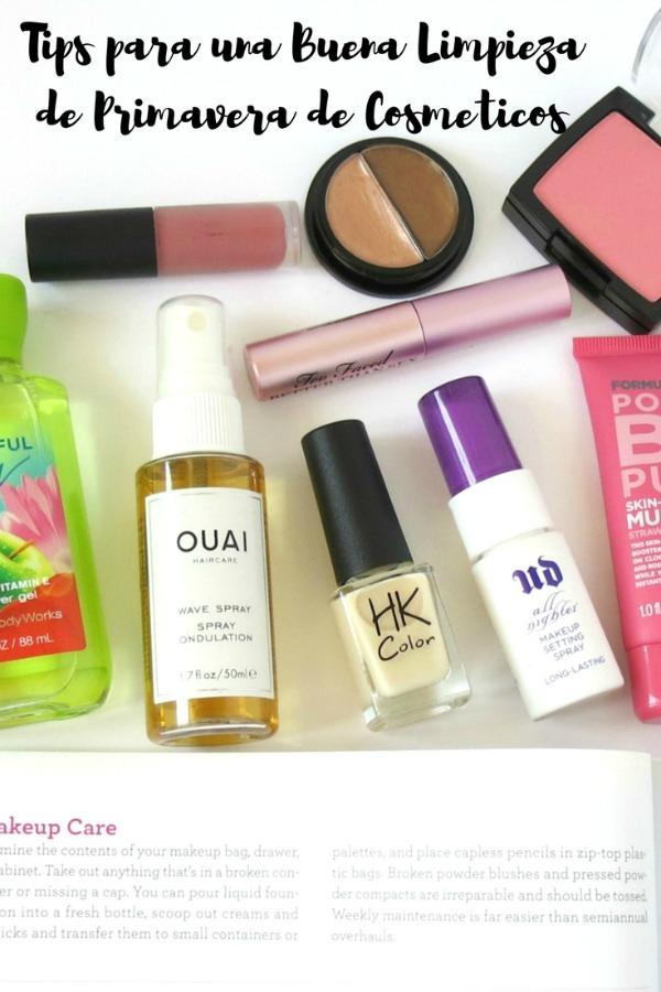 tips limpieza primavera cosmeticos organizacion