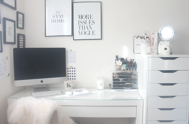 My blogging space and dressing table set up