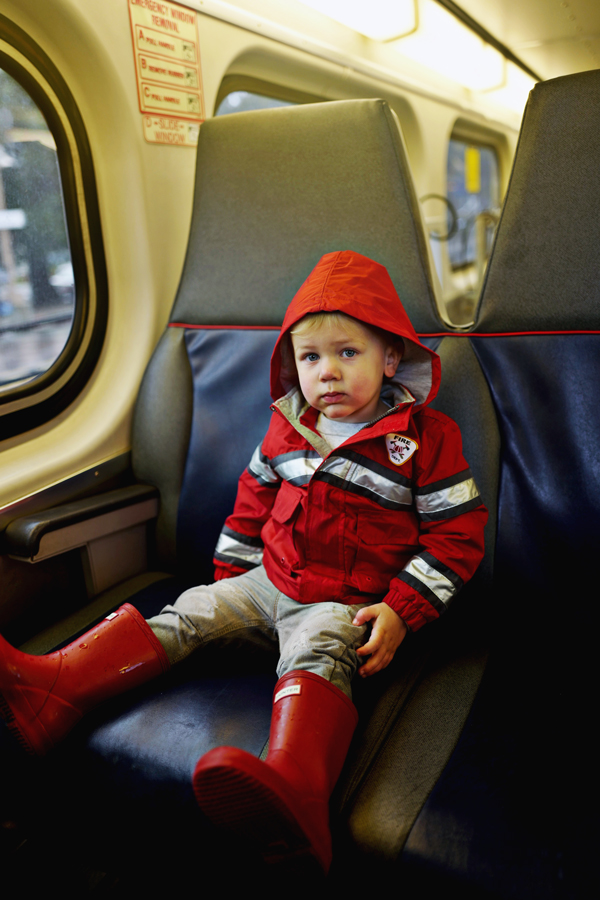 Rainy day activities with a toddler: Ride public transportation