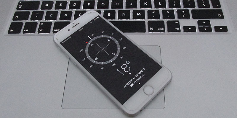 find current gps coordinates on iphone