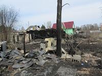 (ФОТО) 4 мая 2019 года в городе Сухой Лог по улице Свердлова в результате пожара сгорело два частных дома.