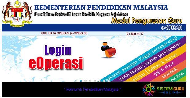 E-Operasi sistem pengurusan maklumat guru
