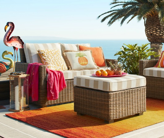 Sunny Yellow and Orange Outdoor Decor