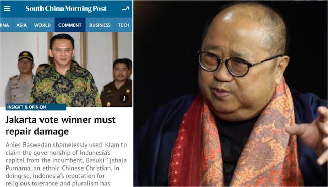 Koran China Fitnah Anies Baswedan, Jaya Suprana: Faktanya Ahok Tidak Dipilih Mayoritas Warga Jakarta