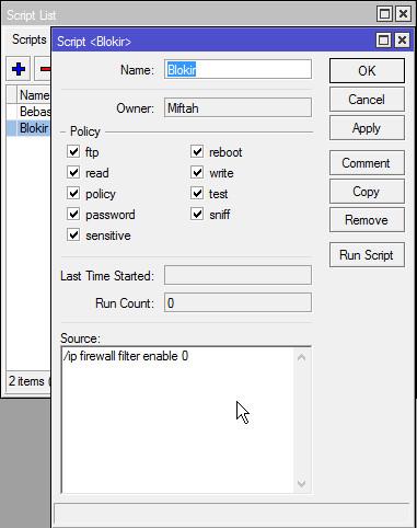 Membuat Jadwal Blokir Otomatis Situs Di Kantor Dengan Mikrotik