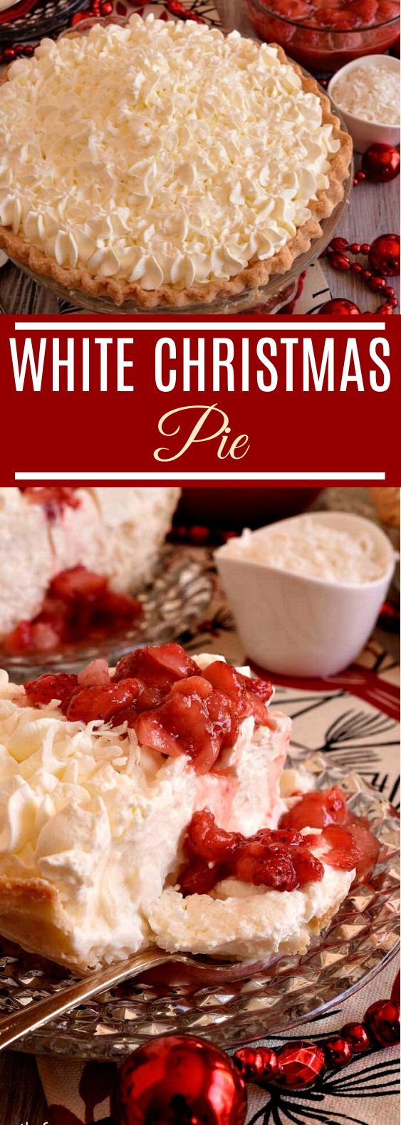 White Christmas Pie #desserts #recipes #baking #pie #pastry