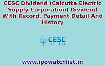 CESC Dividend 2021