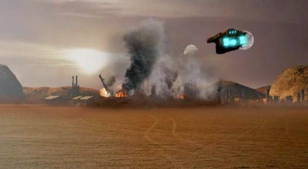 Red Faction Origins ruined Mars city