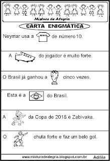 Copa do mundo escrita enigmática
