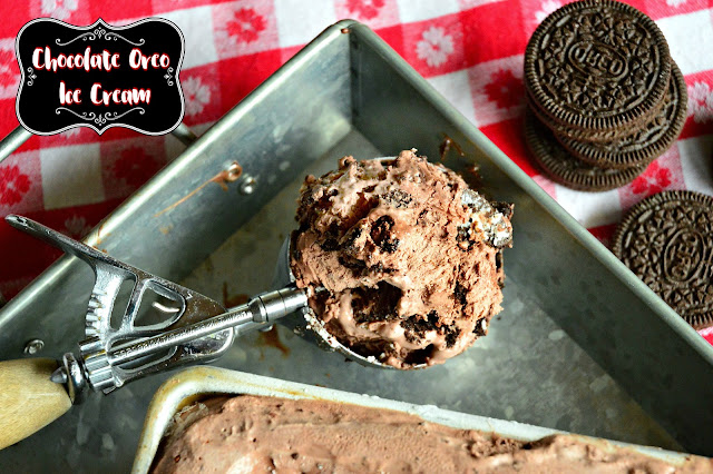 This rich chocolate ice cream filled with everyone's favorite cookie-well I'm assuming that is an Oreo-requires no ice cream machine and just 5 ingredients. This ought to get you through summer! #icecream #dessert #chocolate #oreos www.thisishowicook.com
