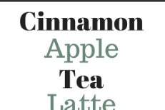 Cinnamon Apple Tea Recipe