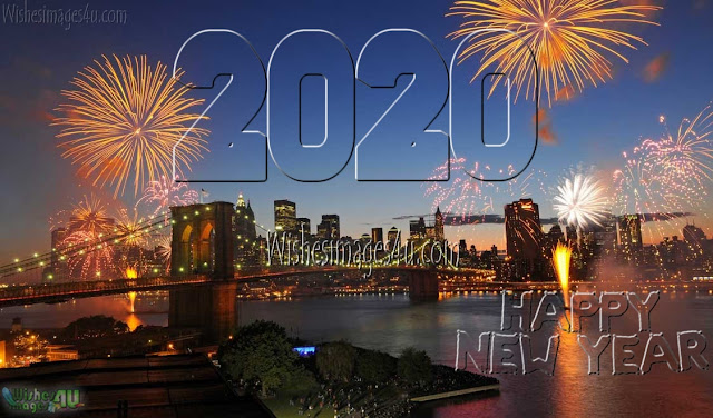 Happy New Year 2020 Ultra HD Firework Wallpapers Download Free - New year 2020 4K Firework Desktop Background Download Free