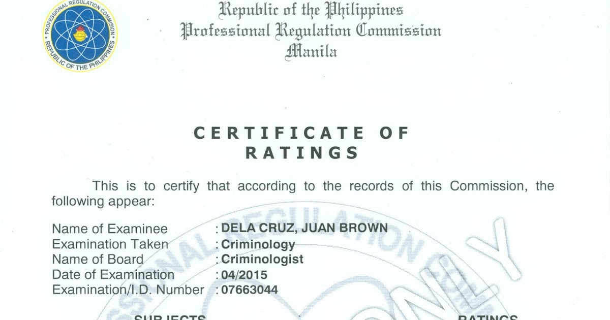 Prc Baguio Information Site Certification And Authentication