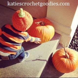 crochet pumpkin fall hat