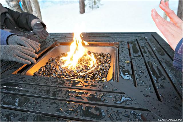 Hogueras para Calentarse las Manos en los Castillos de Hielo de New Hampshire