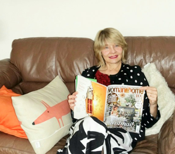 Is This Mutton blogger Gail Hanlon with magazine as she prepares to review TV, podcasts and books for the popular Friday Favourites monthly round-up