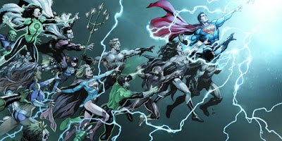 "Comme nous vous l'avions annoncé il y a quelque temps (ici), l'univers DC comics va renaître au mois de mai lors de l'event ""Rebirth"". Qui dit renaissance dit aussi nouvelles équipes créatives sur la plupart des titres du catalogues de DC comics ainsi que des nouveaux titres tels que All Star Batman par Snyder et Romita jr.      ACTION COMICS #957 8-Jun Twice Monthly Dan Jurgens Patrick Zircher, Tyler Kirkham, Stephen Segovia  AQUAMAN #1 22-Jun Twice Monthly Dan Abnett Brad Walker, Jesus Merino, Phil Briones  BATMAN #1 15-Jun Twice Monthly Tom King David Finch, Mikel Janin  DETECTIVE COMICS #934 8-Jun Twice Monthly James Tynion IV Eddy Barrows, Alvaro Martinez  FLASH #1 22-Jun Twice Monthly Josh Williamson Carmine DiGiandomenico, Neil Googe  GREEN ARROW #1 15-Jun Twice Monthly Ben Percy Otto Schmidt, Juan Ferreya  GREEN LANTERNS #1 15-Jun Twice Monthly Sam Humphries Robson Rocha, Ardian Syaf   SUPERMAN #1 15-Jun Twice Monthly Peter J. Tomasi, Pat Gleason Doug Mahnke, Pat Gleason  WONDER WOMAN #1 22-Jun Twice Monthly Greg Rucka Liam Sharp, Nicola Scott  BATGIRL 13-Jul Monthly Hope Larson Rafael Albuquerque  HAL JORDAN & THE GREEN LANTERN CORPS #1 27-Jul Twice Monthly Rob Venditti Ethan Van Sciver, Rafa Sandoval  JUSTICE LEAGUE #1 20-Jul Twice Monthly Bryan Hitch Tony Daniel, Fernando Pasarin  NIGHTWING #1 27-Jul Twice Monthly Tim Seeley Javi Fernandez, Marcus To  THE SUPER-MAN #1 13-Jul Monthly Gene Luen Yang Viktor Bodganovich  TITANS #1 27-Jul Monthly Dan Abnett Brett Booth  ALL STAR BATMAN Aug TBD Monthly Scott Snyder John Romita Jr.,  Jock, Sean Murphy  BATGIRL & THE BIRDS OF PREY 24-Aug Monthly Julie Benson, Shawna Benson Claire Roe  CYBORG #1 17-Aug Twice Monthly John Semper Will Conrad, Paul Pelletier  DEATHSTROKE #1 24-Aug Twice Monthly Christopher Priest Carlo Pagulyan, Igor Vitorino, Felipe Watanabe  HARLEY QUINN 3-Aug Twice Monthly Jimmy Palmiotti, Amanda Conner Chad Hardin, John Timms  THE HELLBLAZER #1 3-Aug Monthly Simon Oliver  RED HOOD & THE OUTLAWS 24-Aug Monthly Scott Lobdell Dexter Soy  SUICIDE SQUAD #1 Aug TBD Twice Monthly Rob Williams Jim Lee, Philip Tan  SUPERWOMAN #1 10-Aug Monthly Phil Jimenez Phil Jimenez, Emmanuela Lupacchino  BLUE BEETLE #1 28-Sep Monthly Keith Giffen Scott Kolins  SUPER SONS #1 7-Sep Monthly Chris Burns, Dennis Culver Jorge Jimenez  SUPERGIRL #1 7-Sep Monthly Steve Orlando Brian Ching  TRINITY #1 21-Sep Monthly Francis Manapul Francis Manapul, Clay Mann  BATMAN BEYOND #1 Oct TBD Monthly Dan Jurgens Bernard Chang  TEEN TITANS #1 Oct TBD Monthly Ben Percy Jonboy Meyers"