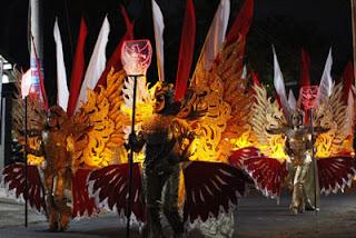 Tim Pengiring Lampion Garuda Desa Losari