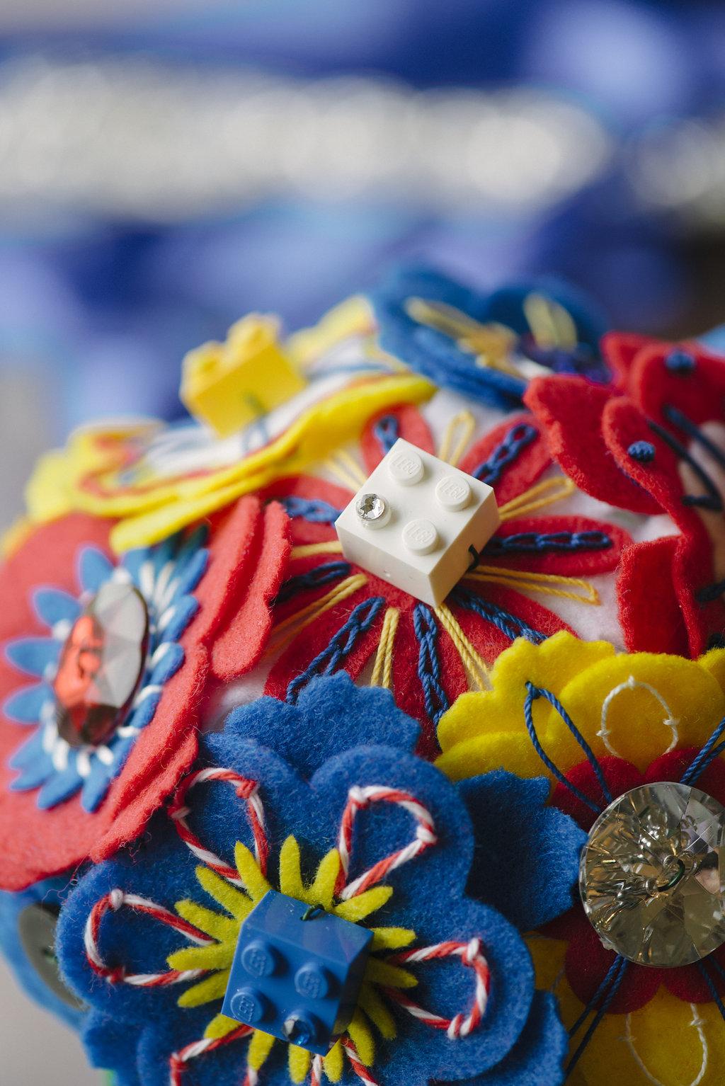 DIY Felt Bridesmaid Bouquets: A LEGO Wedding series post. | Sam ...