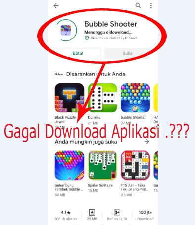 Mengatasi gagal download aplikasi di playstore dijamin ampuh berhasil