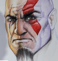 Argentina Game Show - Ilustración de Kratos por Claudio Aboy