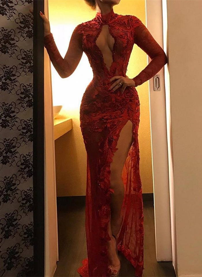 https://www.27dress.com/p/sexy-red-long-sleeve-lace-appliques-prom-dress-with-slit-109713.html