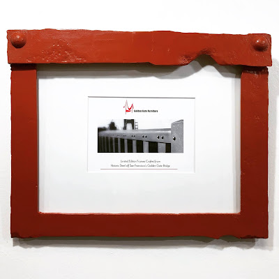 Small Landscape Photo Frame crafted from Golden Gate Bridge Steel