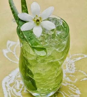 Nước nha đam đường phèn lá dứa