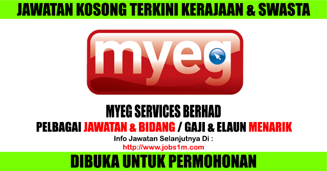 Jawatan Kosong MyEG Services Berhad - 16 April 2017