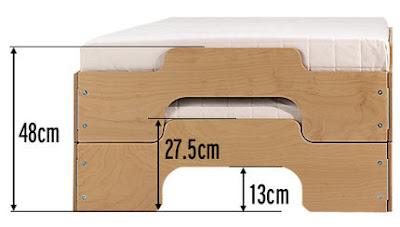 سرير بحجم صغير، سرير اطفال، سرير ضيوف، سرير للزوار، سرير للمساحات الصغيرة، تصاميم سرير جديدة، سرير ذكي