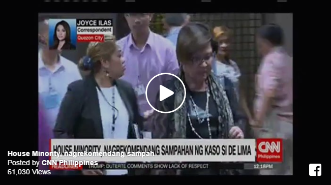 WATCH: House Minority Recommends To File Case Against De Lima