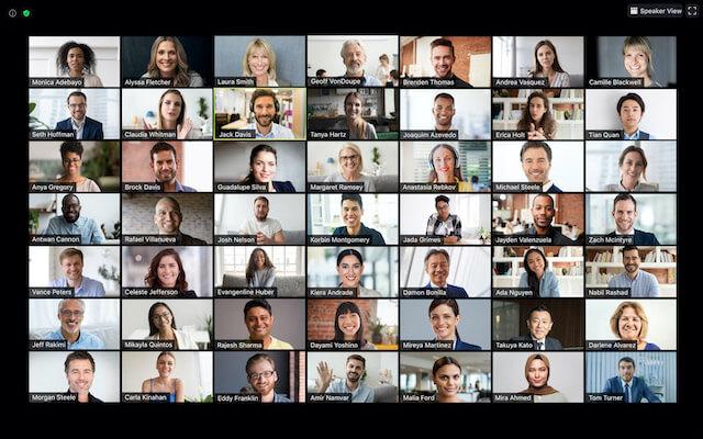 Cara Menampilkan Semua Peserta di Zoom Meeting Melalui Laptop