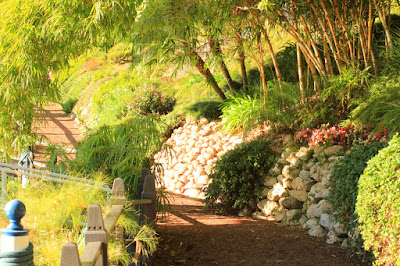 Walking Path at The Lake Shrine - Center for Self Realization in Los Angeles, CA