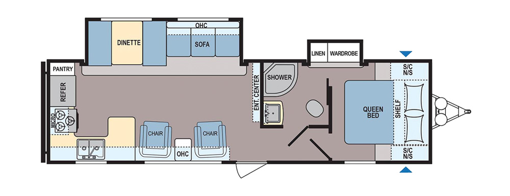 popular travel trailer floorplans - camping world