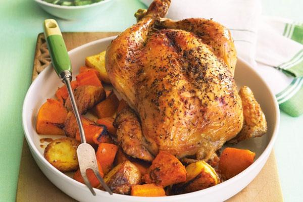 طريقة تحضير دجاج محشي