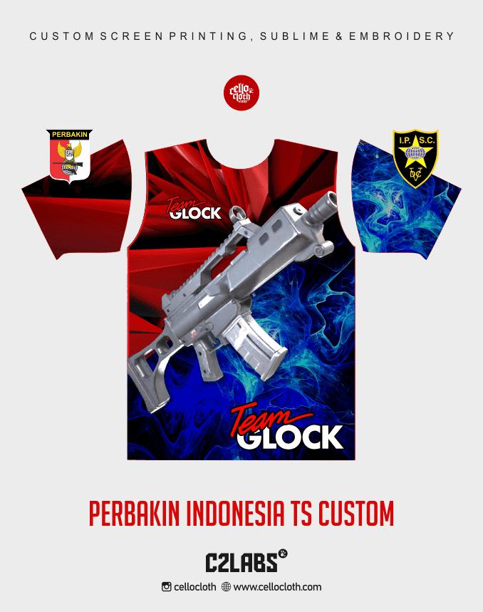 Ts 4 Perbakin Indonesia Baju Kaos Jersey Printing - Vendor Printing Jersey Jogja