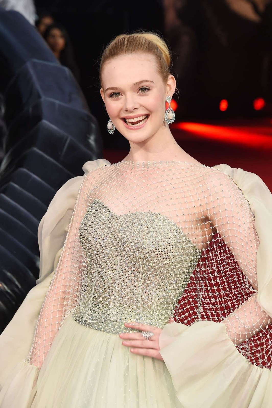 "Elle Fanning at ""Maleficent: Mistress of Evil"" European Premiere in London"