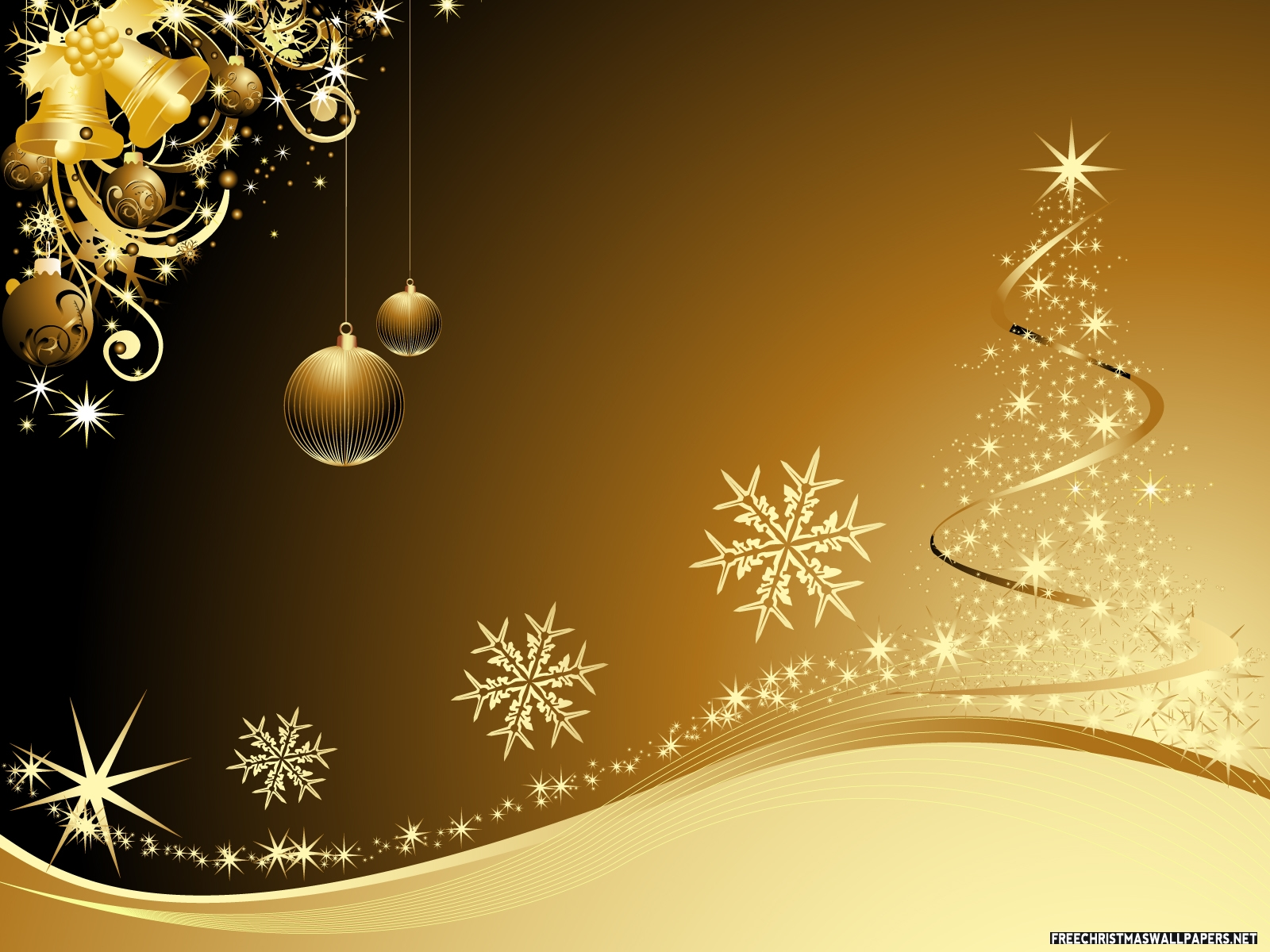 golden christmas background with - photo #1