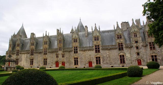 Vista panoramica sul castello di Josselin